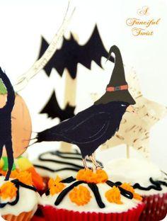 Printable Halloween Treat -Cat, bats, stars & more