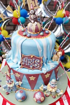 Fabulous Features by Anders Ruff Custom Designs: {Featured Parties} A Whimsical Carnival Party - Cake