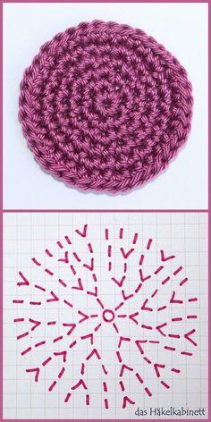 so häkelst du einen Kreis – Häkelschrift Ascalon Shawl Free Knitting Pattern Stitch Patterns, Knitting Patterns, Crochet Patterns, Crochet Diagram, Afghan Patterns, Easy Knitting Projects, Crochet Projects, Knitting Ideas, Crochet Amigurumi