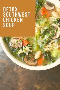 Find easy-to-make comfort food recipes like Healty recipes, dinner recipes and more recipes to make your fantastic food today. Soup Cleanse, Detox Soup, Egg Recipes, Soup Recipes, Dinner Recipes, Southwest Chicken Soup, Gluten Free Soup, Chicken And Vegetables, Healthy Chicken