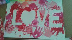Valentijn LOVE handjes
