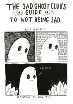 Artist Lize Meddings has created The Sad Ghost Club, a series of endearing comics aimed at helping people be less sad…