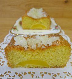 Cake de melocotón.