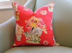 Brunschwig & Fils Gillian's Zebras 20 Inch Cushion Pillow Cover