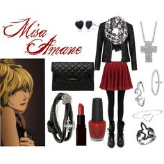 """Misa Amane"" by casualanime on Polyvore"