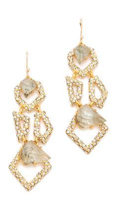 Alexis Bittar New Wave Modular Earrings, Labaradorite & Swarovski   french hooh, 2.5L  295