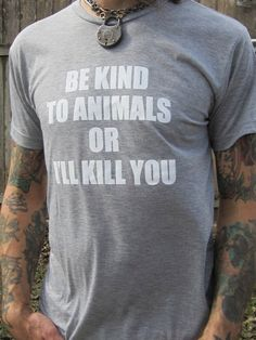 ALL SIZES Men's Animal rights rescue light by VonStreichergoods, $22.00