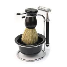 4 In 1 soap dish stand bowl shaving razor beard brush kit set. Razor Size: About Length of Knot: About Bowl Diameter: About Brush Height: About Shaving Set, Shaving Razor, Shaving Brush, Shaving & Grooming, Best Shave, Mens Soap, Beard Brush, Safety Razor