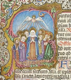 Pentecost — Within initial S | Missal | Spain, Valencia | ca. 1468 | The Morgan Library & Museum