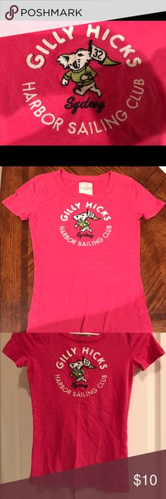 GILLY HICKS WOMENS XS pink tshirt This is absolutely the bargain of all poshmark! Women's XS GILLY HICKS tshirt pink. No rips, holes, tears or stains. Very good preworn condition. Featured on the SAINTS VINTAGE RESALE YouTube channel. https://youtu.be/q_D3H_QsCjs Gilly Hicks Tops Tees - Short Sleeve