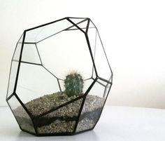 LARGE Terrarium / Terrarium / Wedding Table Decor / Geometric Glass / Glass Terrarium / Display Case