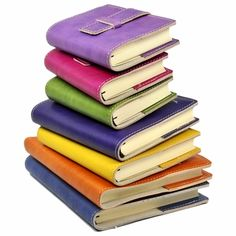 Rainbow leather journals