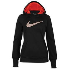 Nike All Time Swoosh Out Hoodie - Women's - Training - Clothing - Sunburst/Bright Peach/Anthracite