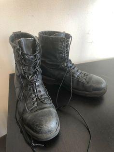 WELLCO 1003 STEEL TOE BLACK LEATHER USN U.S. NAVY SAFETY FLIGHT DECK BOOTS Sz 11  | eBay Flight Deck, Steel Toe, Us Navy, Trouser Pants, Matte Black, Camouflage, Combat Boots, Safety, Black Leather