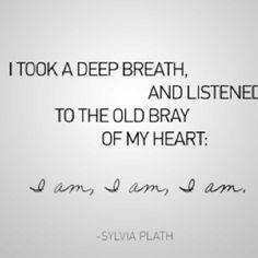 Slyvia Plath. My inspiration, and the author who has had the largest impact on my life thus far. I will have this tattoo as well.