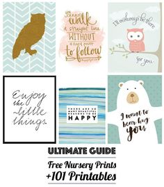 Free Nursery Art the ULTIMATE Guide to Over 101 Free Printables!
