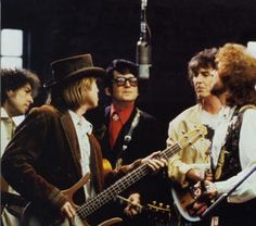 The Traveling Wilburys were an English–American supergroup consisting of Bob Dylan, George Harrison, Jeff Lynne, Roy Orbison and Tom Petty, accompanied by drummer Jim Keltner