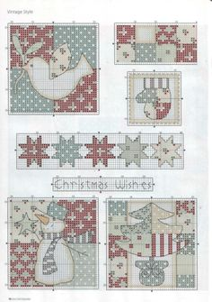 Cross Stitch Christmas Ornaments, Xmas Cross Stitch, Cross Stitch Needles, Modern Cross Stitch, Christmas Cross, Cross Stitch Charts, Cross Stitch Designs, Cross Stitching, Cross Stitch Embroidery