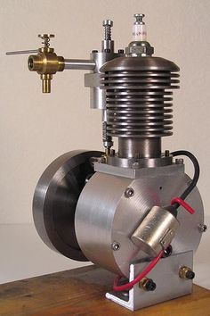 Engine from the home shop Stirling Engine, Aircraft Engine, Motor Engine, Combustion Engine, Mechanical Design, Small Engine, Steam Engine, Go Kart, Diesel Engine
