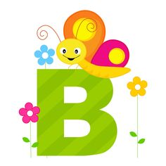 Animal Alphabet B. Illustration of alphabet letter B with a cute little butterfl , Animal Alphabet, Alphabet Games, Alfabeto Animal, Puzzle Games For Kids, School Frame, Cool Lettering, Sewing Appliques, Gif Animé, Illustrations