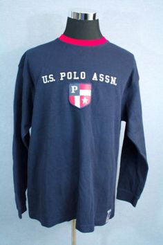 US-POLO-ASSN-Mens-Shirt-NEW-with-Tags-Navy-Blue-Size-X-LARGE