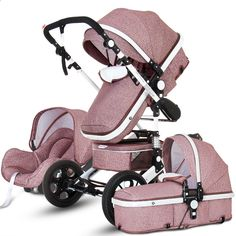 Luxury Baby Stroller 3 in 1 with Car Seat Portable Reversible High Landscape Baby Stroller Hot Mom Pink Stroller Travel Pram Baby Stroller Brands, Car Seat And Stroller, Pram Stroller, Baby Car Seats, Carseat Stroller Combo, Cheap Baby Strollers, Baby Girl Strollers, 3 In 1 Prams, Travel Stroller