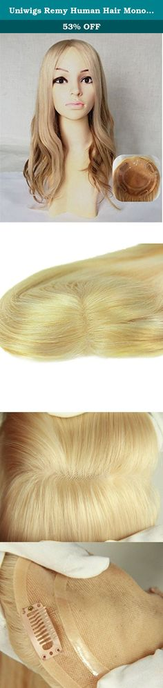 "Uniwigs Remy Human Hair Mono Hairpiece,Hair Topper,hand Made Tied Straight Blonde Color, Add Hair Volume Instantly for Hair Loss. Feature: For those who need a little more coverage and length than just a top piece but are not ready to wear a full wig. Pressure sensitive clips give you maximum security. Specifications: Hair material: 100% human hair color: H-613# length:18"" weight: 100g Package included: 1 hair piece + 1 brush ."