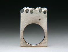 Pendant or is it a Ring Float Cast Rough Diamonds by jewelscurnow, $135.00
