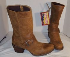 NEW WOMENS DURANGO CITY PHILLY 9 INCH PULL ON BOOTS WESTERN SIZE US 9 #Durango #CowboyWestern