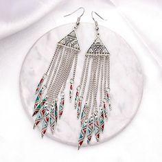 oz-oz Girls Womens Handmade Dangle Earrings Fashion Earring White Red