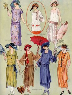 Fashion in The Delineator, August 1922.
