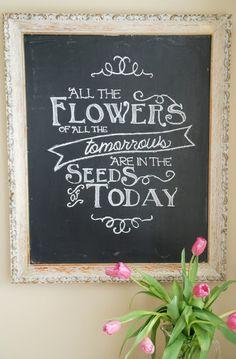 {Ella Claire}: My Spring Chalkboard Art!