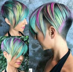 If you want your hair to look attractive, you should try the colorful hairstyle in a short time. You can also get help from jelly and hair sprays to shape your hair. Women with short hairstyles can easily use these models. Mens Hairstyles Pompadour, Pompadour Fade, Cool Hairstyles, Medium Hairstyles, Wedding Hairstyles, Hair Trends 2015, Mens Hair Trends, Pelo Color Morado, Fantasy Hair Color