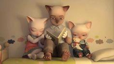Kedi Ailesi Hüzünlü Animasyon - HD