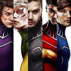 ∞ One Direction [1D] → Superhero Illustrations - by harrypopsz (Amelia The Artist)