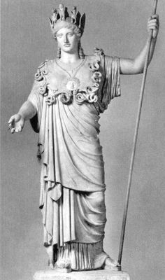 """so called """"Athena Farnese"""" - statue of Athena is a Roman copy of a Greek original of the late 5th century BCE, Roman period, Height 224 cm, now National Museum in Naples"""