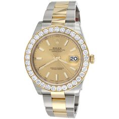 Mens 126333 Rolex DateJust Two Tone Diamond Watch Champagne Stick Dial 5 CT datejust Wristwatches Paper Diamond, Diamond Cuts, Rolex Watch Price, Cheapest Rolex, Day Date President, Rolex Watches For Men, Gold Watches, Rolex Models, Rolex Day Date