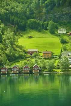 Small town north of Bergen, Norway