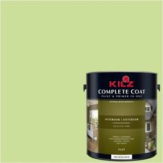 Kilz Complete Coat Interior/Exterior Paint & Primer in One #LG240-01 Tree Line, 1 gal, Flat