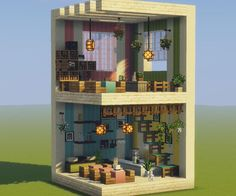 Cool idea-put a foundation on it but with the ability to block spiders from climbing up and other mobs! Modern Minecraft Houses, Minecraft Mansion, Minecraft Plans, Minecraft Room, Minecraft House Designs, Minecraft Tutorial, Minecraft Blueprints, Minecraft Architecture, Minecraft Crafts