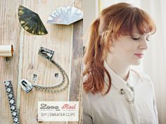 DIY | Sweater Clips - Alternative Jewelry for Collared Shirts!