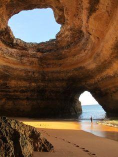 Sea Cave in Portugal - Beach in a cave