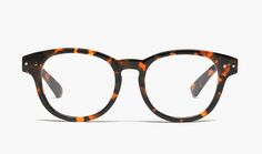 madewell textbook glasses in vintage stout.