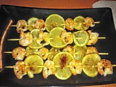 Spiedini di Mazzancolle e Lime