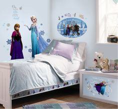 OlafThemed Bedroom   Capture the essence of the movie Frozen by adding even more decals to ...