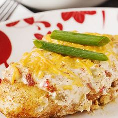 Sour Cream Jalapeno Chicken.  Garden grown jalapenos, ripened to a mellow red, flavor a sour cream topping over a  seared chicken breast.