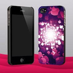 Circle Apple Purple New Desain - Customized iPhone 4/4S & iphone 5 cool design
