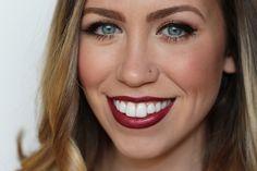 Bronze Eyes & Wine Lips   Holiday Makeup   #LivingAfterMidnite