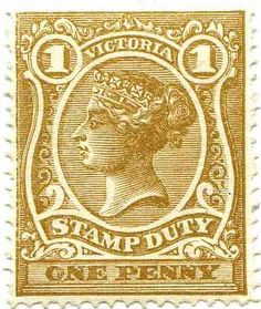 1879 Victoria Revenue Stamp Catalogue