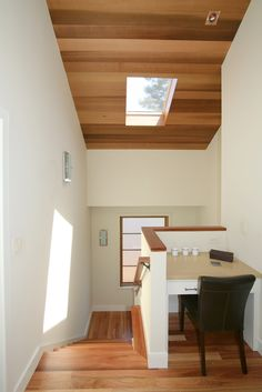A skylight above your desk can serve as a light at the end of the tunnel